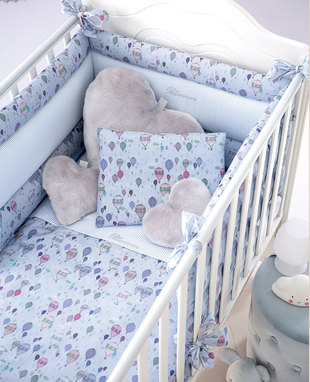 Duvet cover set for baby bed Mongolfiera