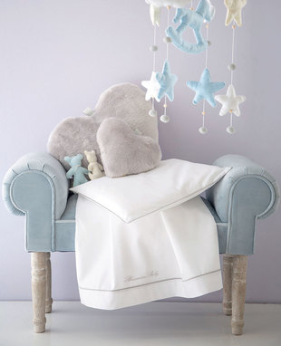 Sheet set for baby bed Baby Blu