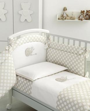 Duvet cover set for baby bed Lumachina