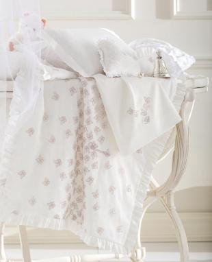 Sheet set for baby cradle Farfalle