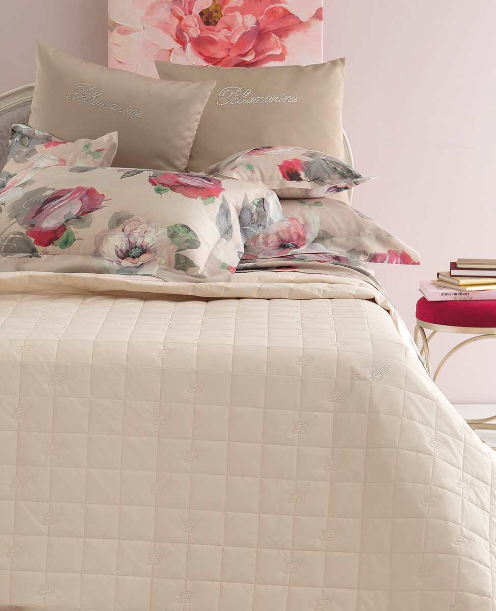Bedspread Blu Valentina for single bed