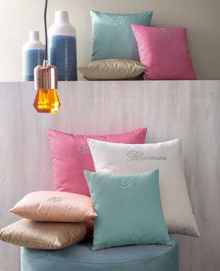 CUSHION NOTE BLU